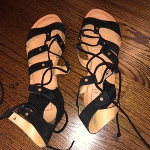 Dolce Vita black suede lace up sandals